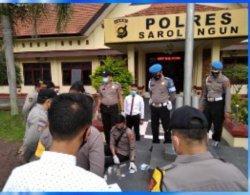 Tim Gabungan Polda Jambi Sidak ke Tiga Polres, Periksa Urine Anggota Polisi