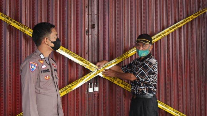 Polisi Pasang Police Line di Tempat Karaoke Desa Gedang Sungai Penuh, Meresahkan Warga