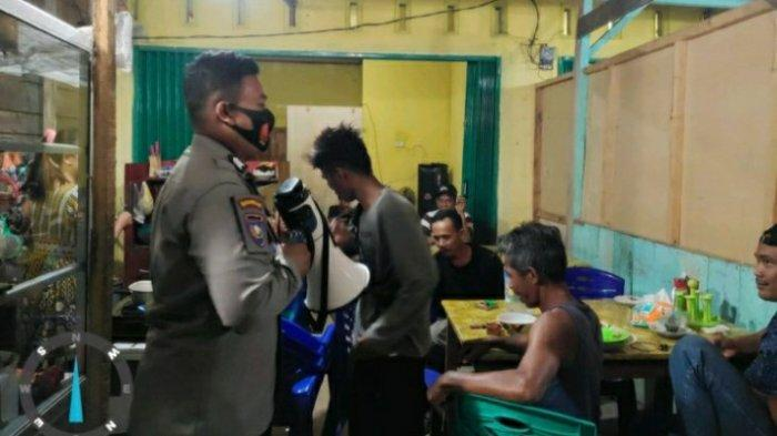 Polisi di Tebo Datangi Warung dan Cafe Yang Rawan Langgar Prokes