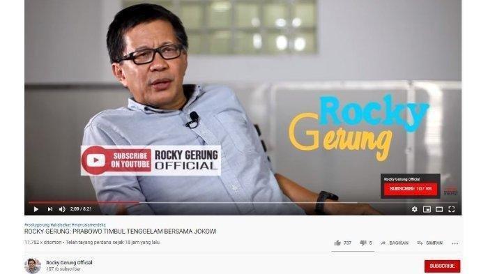 Periode Kedua Jadi Presiden, Rocky Gerung Sebut Jokowi Tak Sampai 2024, Tak Bisa Yakinkan Publik?
