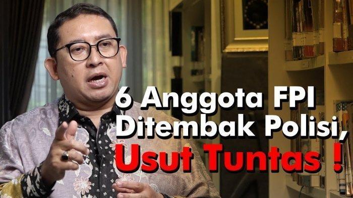 Ada yang Janggal, Fadli Zon Minta Eksekutor Penembakan 6 Laskar FPI Pengawal MRS Tak Disembunyikan