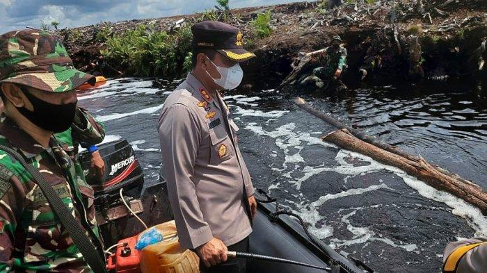 Polisi Pastikan Kanal Air Berfungsi Untuk Mengatasi Jika Terjadi Karhutla