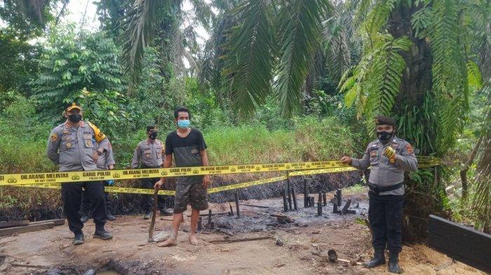 150 Polisi Muarojambi Dikerahkan Menutup Paksa Sumur Illegal Drilling di Bahar Selatan