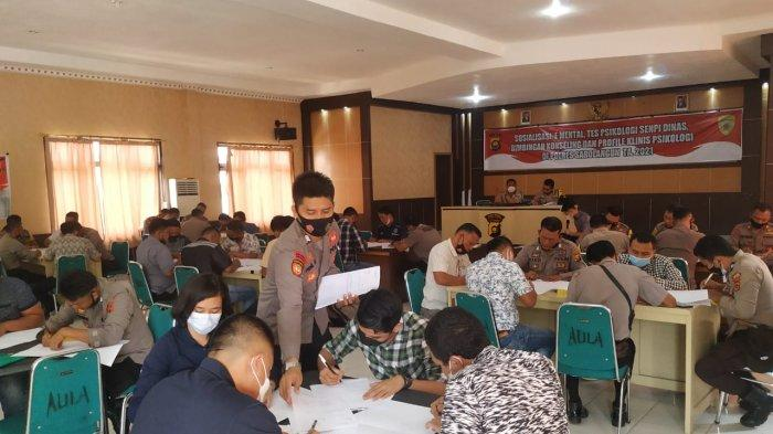 Polres Sarolangun Bersama Biro SDM Polda Cek Psikologi Polisi Pemegang Senpi