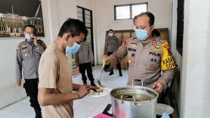 Polres Tanjabbar Hibur Warga Binaan, Gelar Makan Siang Daging Kurban Bersama di Rutan Polres