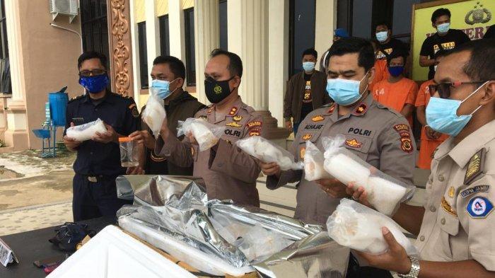Polres Tanjabbar Amankan Ratusan Ribu Benih Lobster, Rp 20 Miliar Kerugian Negara Diselamatkan