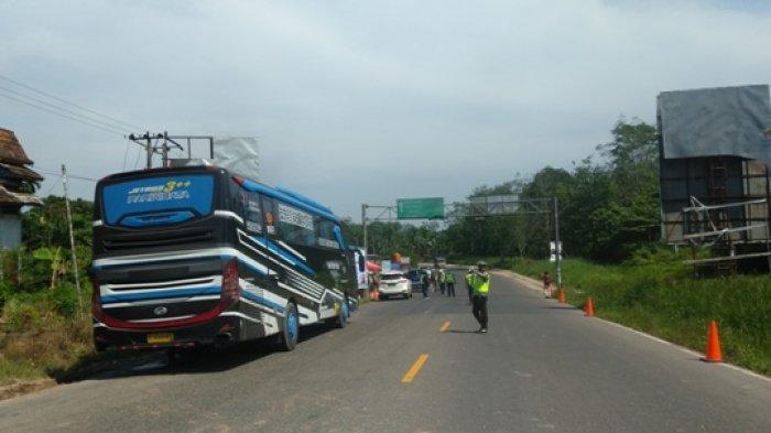 644 Kendaraan Terjaring di Pos Batas Provinsi, 66 Disuruh Putar Balik Oleh Ditlantas Polda Jambi