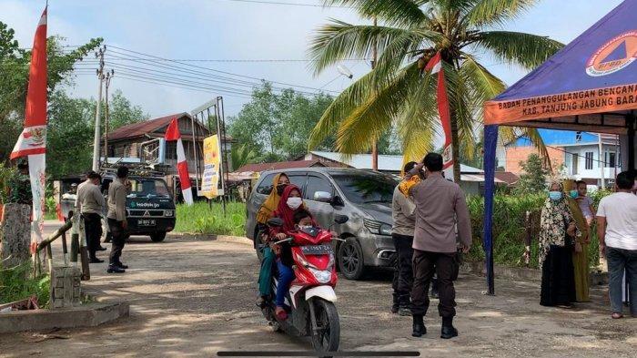 Hari Kedua Larangan Mudik Posko Perbatasan di Ex Terminal Pembengis Kuala Tungkal Masih Kondusif