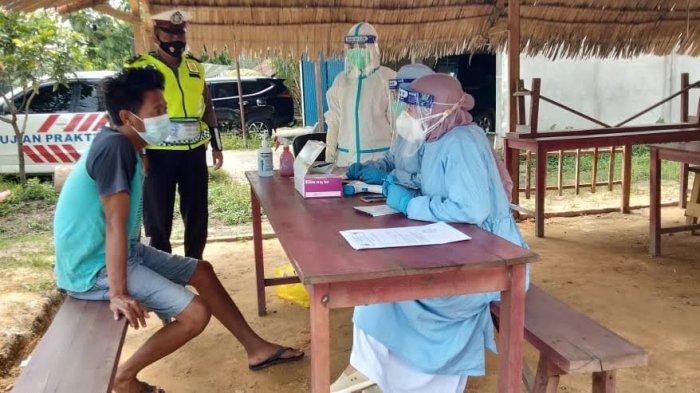 Satgas Covid-19 Muarojambi Sediakan Post Rapid Test Berbayar di Lokasi Penyekatan