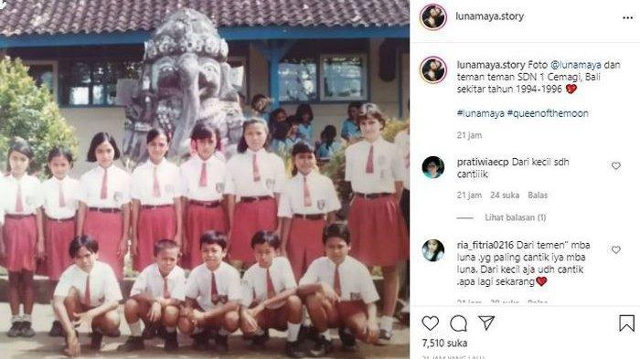 Foto Zaman SD Luna Maya Beredar, Netizen : Dari Dulu Sudah Cantik, Bule Paling Tinggi