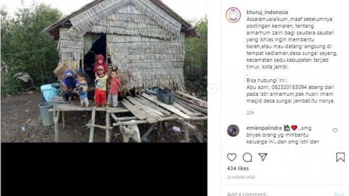 Suami Meninggal Tinggalkan 4 Balita, Kisah Sedih Satu Keluarga di Sadu Tanjabtim Viral di Sosmed