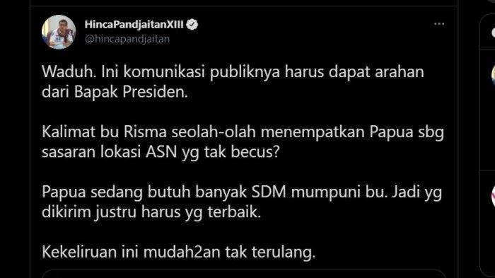 Risma Ancam Pindahkan ASN Tak Becus ke Papua: Dia Harus Dapat Arahan Presiden soal Komunikasi Publik