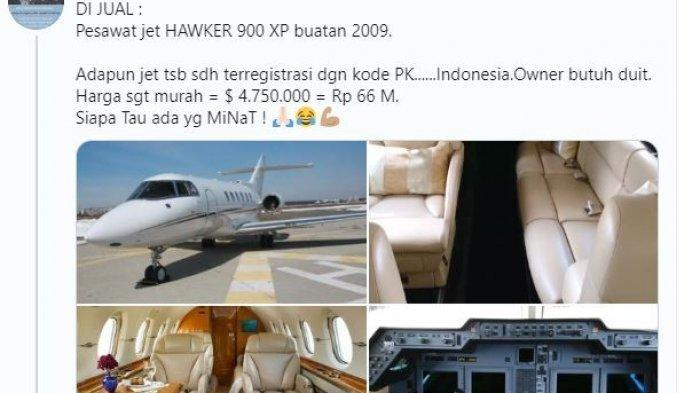 Pesawat Jet Pribadi Dijual Rp 66 Miliar, Siapa Sosok Pemiliknya? Ternyata Pernah Dekat sama Syahrini