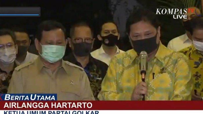 Isu Presiden Jokowi Bakal Reshuffle Kabinet Mencuat, Begini Sikap Prabowo Subianto dan Airlangga