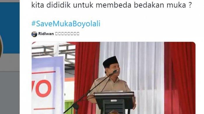 Ucapan Tampang Boyolali Prabowo Subianto Kembali Viral Setelah Dapat 0 Suara Sejumlah TPS Boyolali