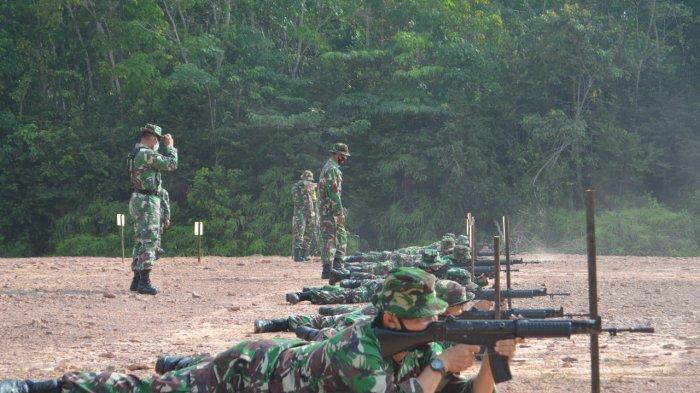 Asah Kemampuan Prajurit, Korem 042/Gapu Gelar Latihan Menembak
