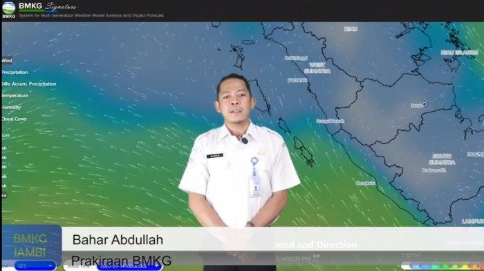 Prakiraan Cuaca di Jambi Jumat 30 Oktober 2020, Hujan Petir Sewaktu-waktu