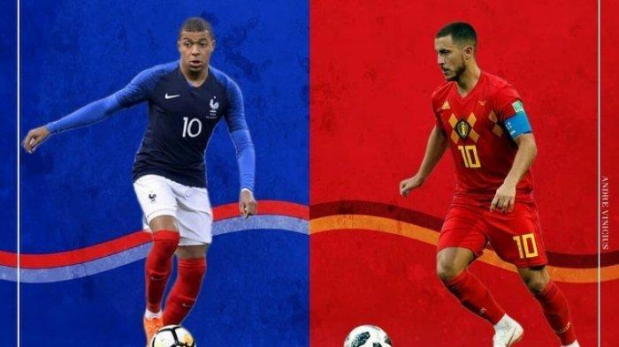 Prediksi Skor & Head to Head Laga Prancis vs Belgia yang Tayang (LIVE) di Trans TV & Trans 7