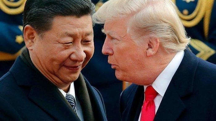 Presiden Amerika Serikat, Donald Trump (kanan) dan Presiden China Xi Jinping (kiri).