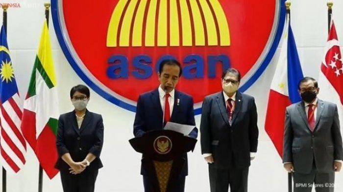 Pemimpin ASEAN Desak Junta Militer Hentikan Kekerasan di Myanmar, Jokowi: Rakyat Harus Jadi Prirotas