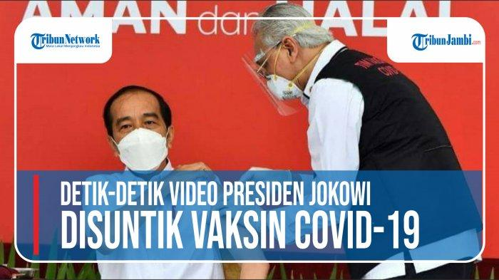 VIDEO Detik-detik Tangan Dokter yang Suntik Vaksin Covid-19 ke Presiden Jokowi Gemetaran, Ternyata