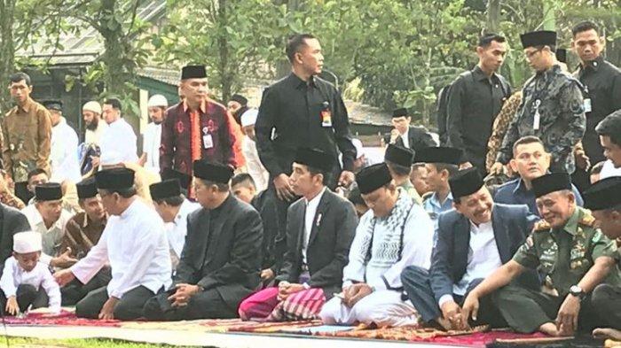 Jokowi Salat Idul Fitri 1 Syawal 1439 Hijriah Bersama Keluarga dan Ribuan Warga di Kebun Raya Bogor