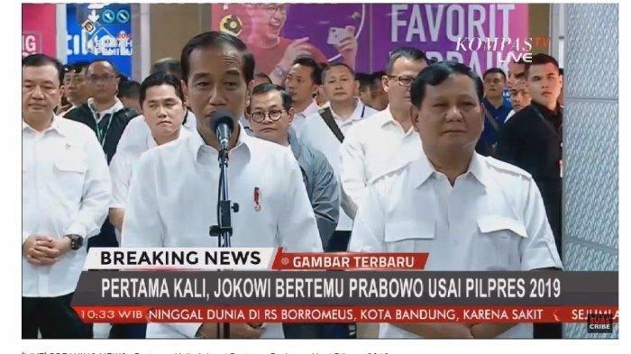 Pertemuan Jokowi dan Prabowo di MRT Lebak Bulus, Warga: We Love You !