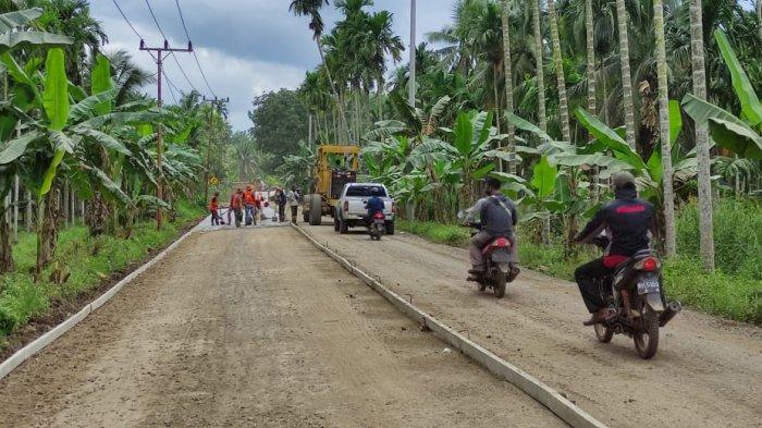 Progres Pengerjaan Jalan Muara Sabak-Rasau Masuki Tahap Pengecoran
