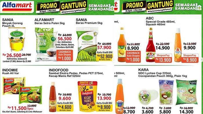 Promo Alfamart Hari Ini 26 April 2021 Ada Minyak Goreng 2 Liter Rp 26 Ribuan dan Sirup Rp 9 Ribuan