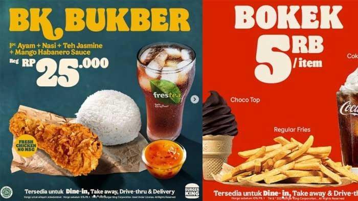 Promo Burger King Hari Ini 30 April 2021 Ada Menu Bukber Rp 25 Ribu dan Promo Bokek Rp 5 Ribu