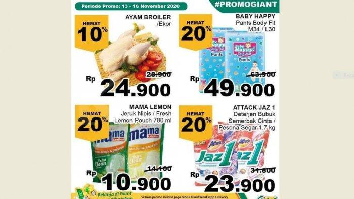 Promo Giant Terbaru 14-16 November 2020, Ayam Gula Daging Buah-buahan Susu Camilan Dll