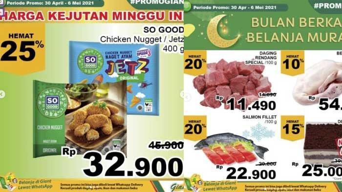 Promo Giant Terbaru Hari Ini 3-6 Mei 2021, Daging Rendang Hemat 20% dan Nugget 400 Gram Rp 30 Ribuan