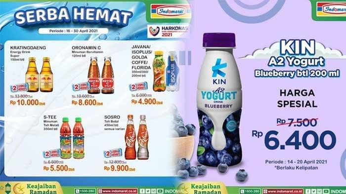 Promo Indomaret Hari Ini 19 April 2021 Ada Teh Botol Rp 59.500 dan Yogurt Rp 6.400