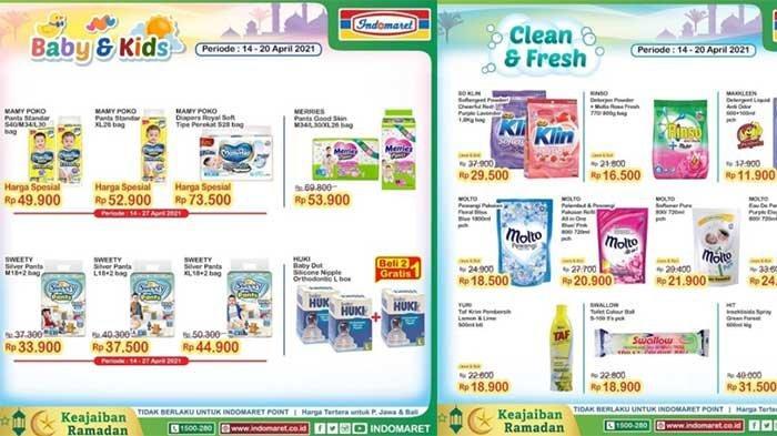 Promo Indomaret Terbaru 14-20 April 2021 Harga Spesial Diapers Rp 33 Ribuan dan Tebus Murah Rp 500