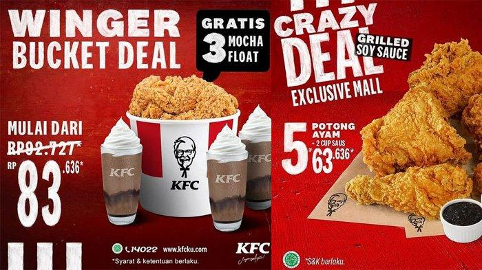 Promo KFC 17-31 Mei 2021 Ada Winger Bucket Deal Rp 83 Ribuan dan Crazy Deal 5 Ayam Rp 60 Ribuan
