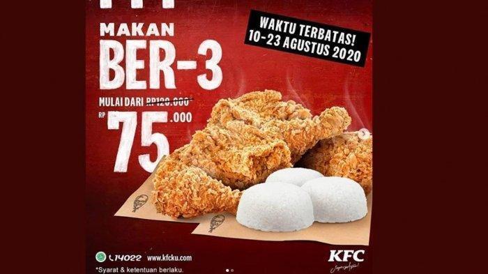 Promo Dirgahayu Kemerdekaan RI ke-75, Ada KFC, Burger King, A&W, Pizza Hut, PHD, Wings Stop, dan CFC
