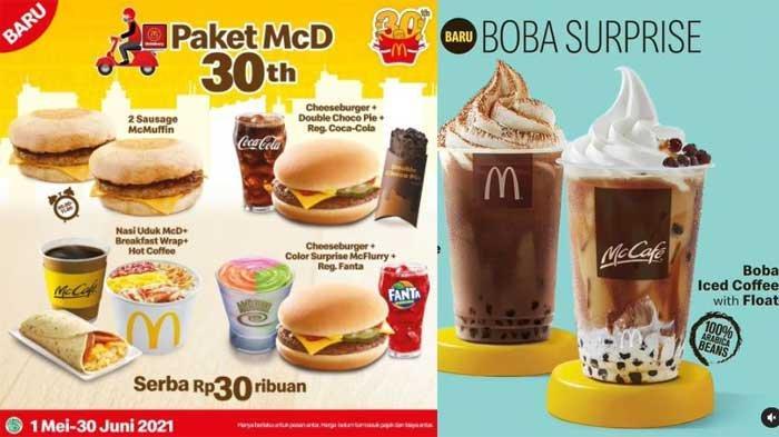 Promo McD Hari Ini 3 Mei 2021 Ada Paket McD Serba 30 Ribuan dan Boba Surprise di Iced Coffee