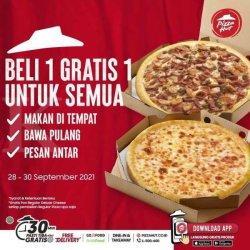 Beli 1 Gratis 1 Untuk Semua, Promo Pizza Hut Terbaru 28-30 September 2021