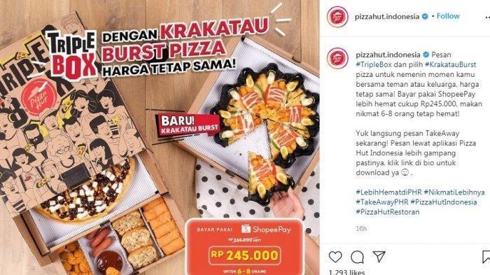 Promo Pizza Hut November 2020, Menu Baru Krakatau Burst, Tripel Box Harga Tetap Sama