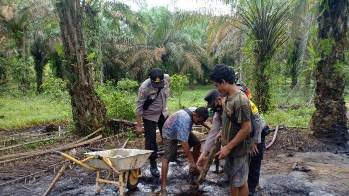 12 Sumur Ilegal di Bahar Selatan Muarojambi Masih Aktif, Ditutup Paksa Petugas Gabungan