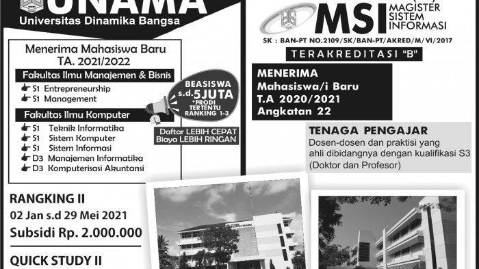 Proses Seleksi Masuk Unama di Jambi Dilakukan Secara Online, Ini Jadwal dan Link Pendaftaran