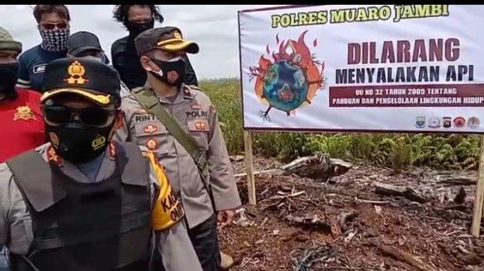 Kapolres Pimpin Patroli dan Sosialisasi Pencegahan Karhutla, Masyarakat Diimbau Jangan Bakar Lahan