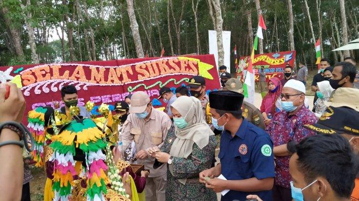PT Tanah Emas Indonesia launching Villa Agronesia yang bertempat di Desa Talang Belido, kecamatan Sungai Gelam, Muarojambi, Jumat (4/12).