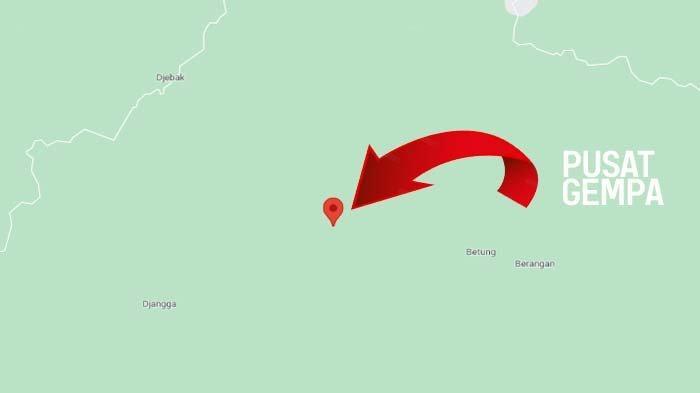 Pusat Gempa Batanghari Berada di Desa Jebak Kecamatan Muara Tembesi