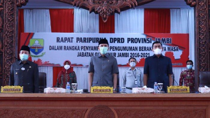 DPRD Provinsi Jambi Gelar Paripurna Pengumuman Berakhirnya Masa Jabatan Gubernur