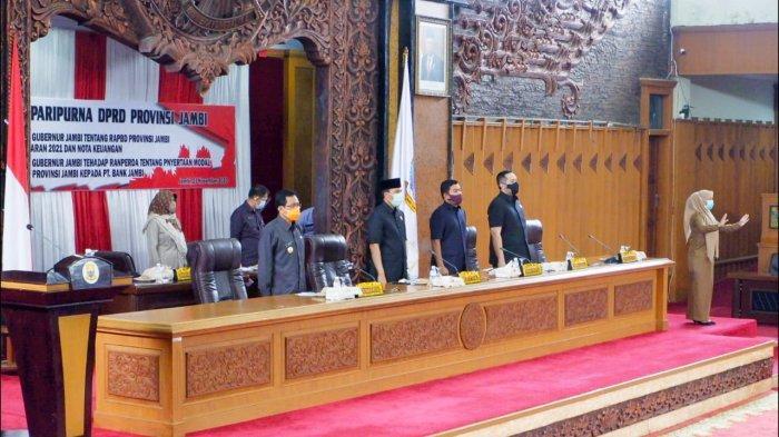 DPRD Provinsi Jambi Tanda Tangani Nota Kesepakatan KUA-KPAS 2021, Belanja Daerah Lebih Rp 2,5 T