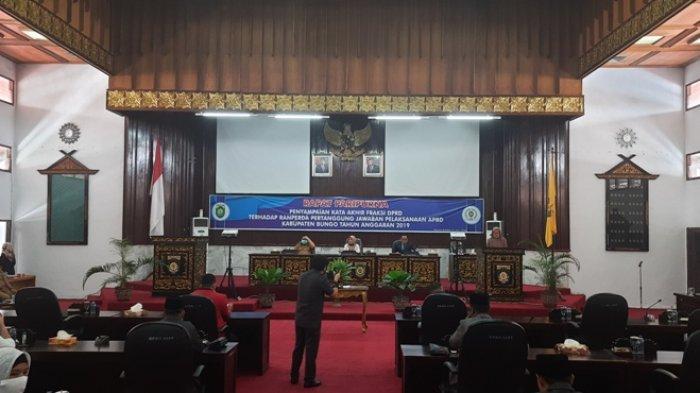 Rapat Paripurna, DPRD Bungo Soroti Pendapatan Asli Daerah yang Rendah