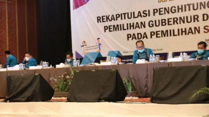 Rapat Pleno rekapitulasi perolehan suara Pilgub Jambi, tingkat Provinsi Jambi dimulai siang ini, Jumat (18/12/2020).