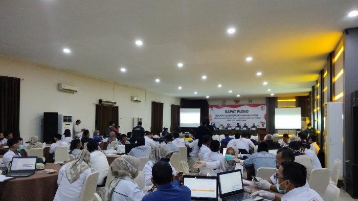 KPU Muarojambi, Laksanakan Pleno Rekapitulasi Penghitungan Suara Pilgub Jambi