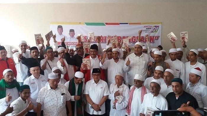 Ratusan Habib di Jatim Deklarasi Dukung Pasangan Jokowi-Maruf Amin, Hidup Jokowi Bergema